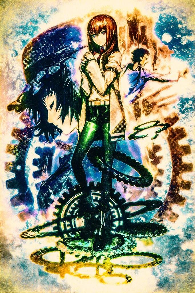 steins gate movie fuka ryouiki no deja vu anime poster