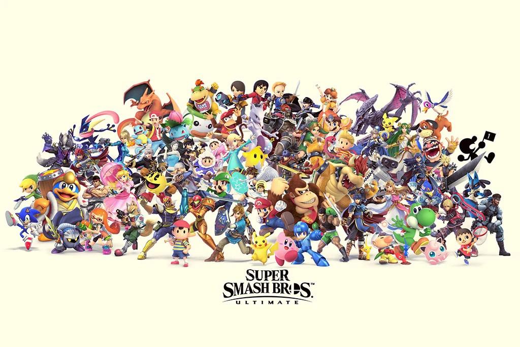 super smash bros ultimate video game poster