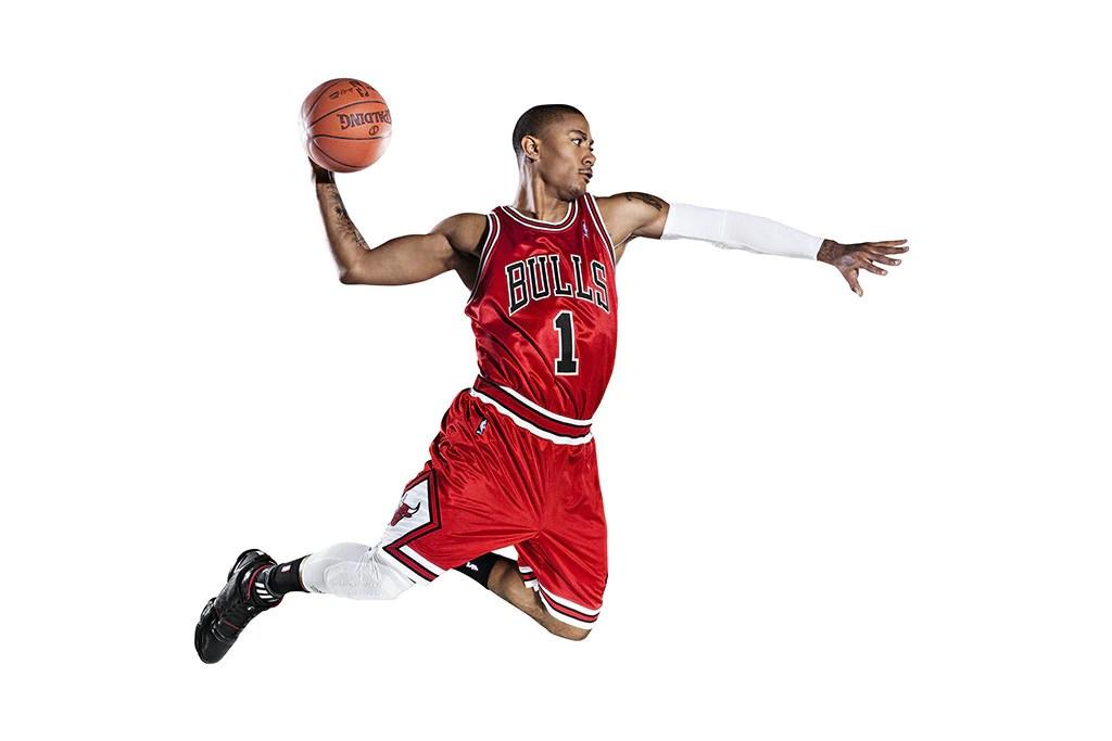 derrick rose chicago bulls basketball nba poster