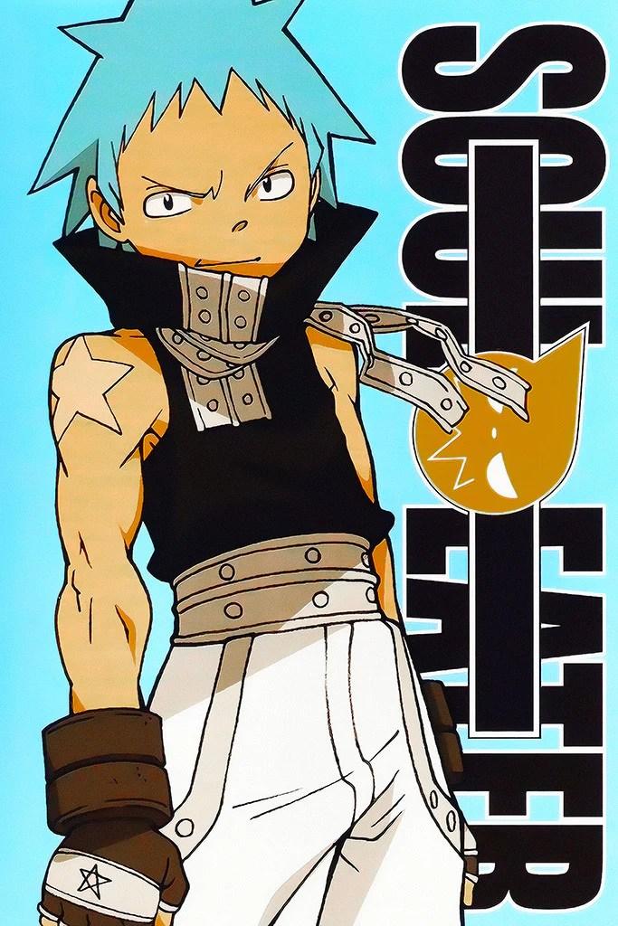 soul eater black star anime poster