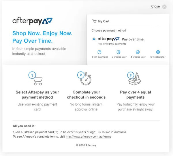 afterpay jewellery