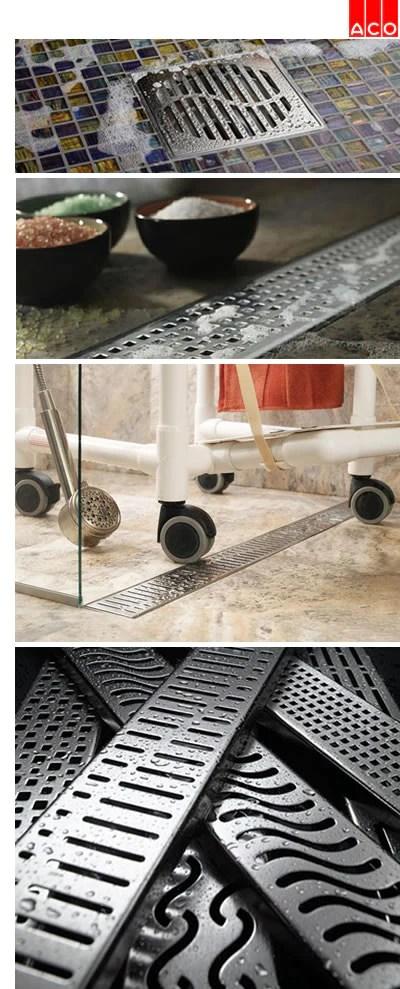 Aco Bathroom Drains Shower Drains Linear Drains Canaroma Bath Tile
