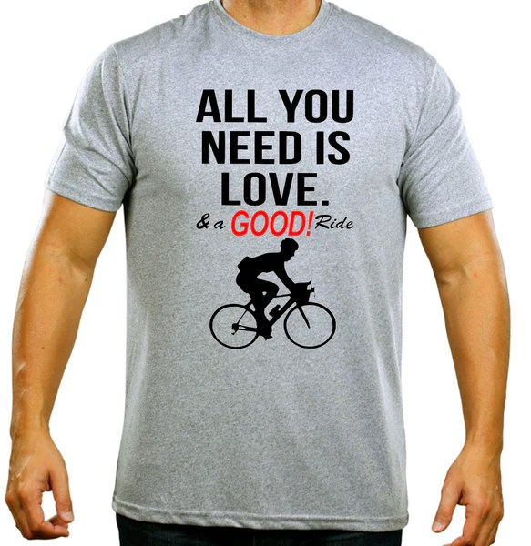 All You Need Is LOVE Amp A GOOD Ride Novelty Mens Cycling T