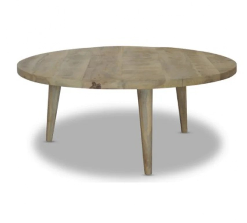 loft collection round coffee table rustic