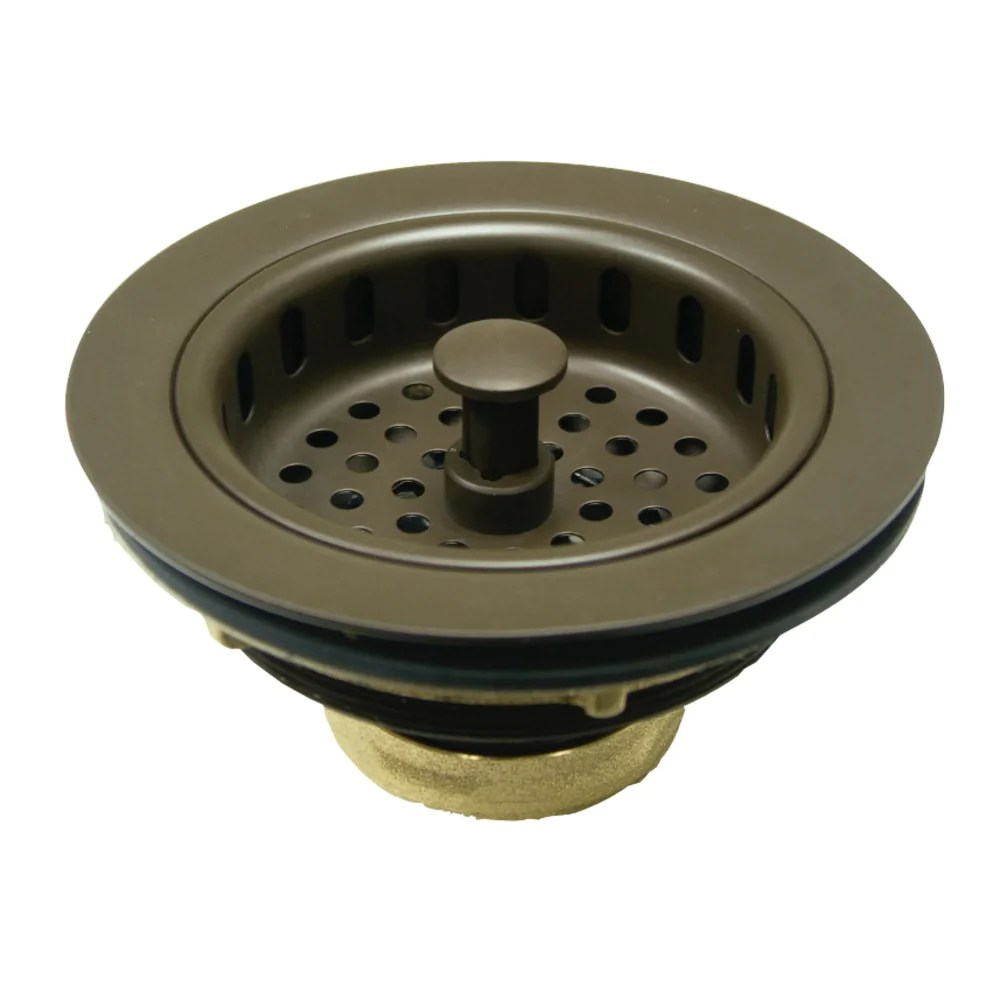 kitchen drain basket strainer 3 5 in oil rubbed bronze kdkbs1005 not for garbage disposal