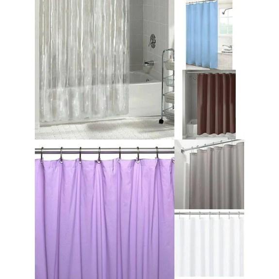 mildew vinyl shower curtain liner w magnets metal grommets 2 pack