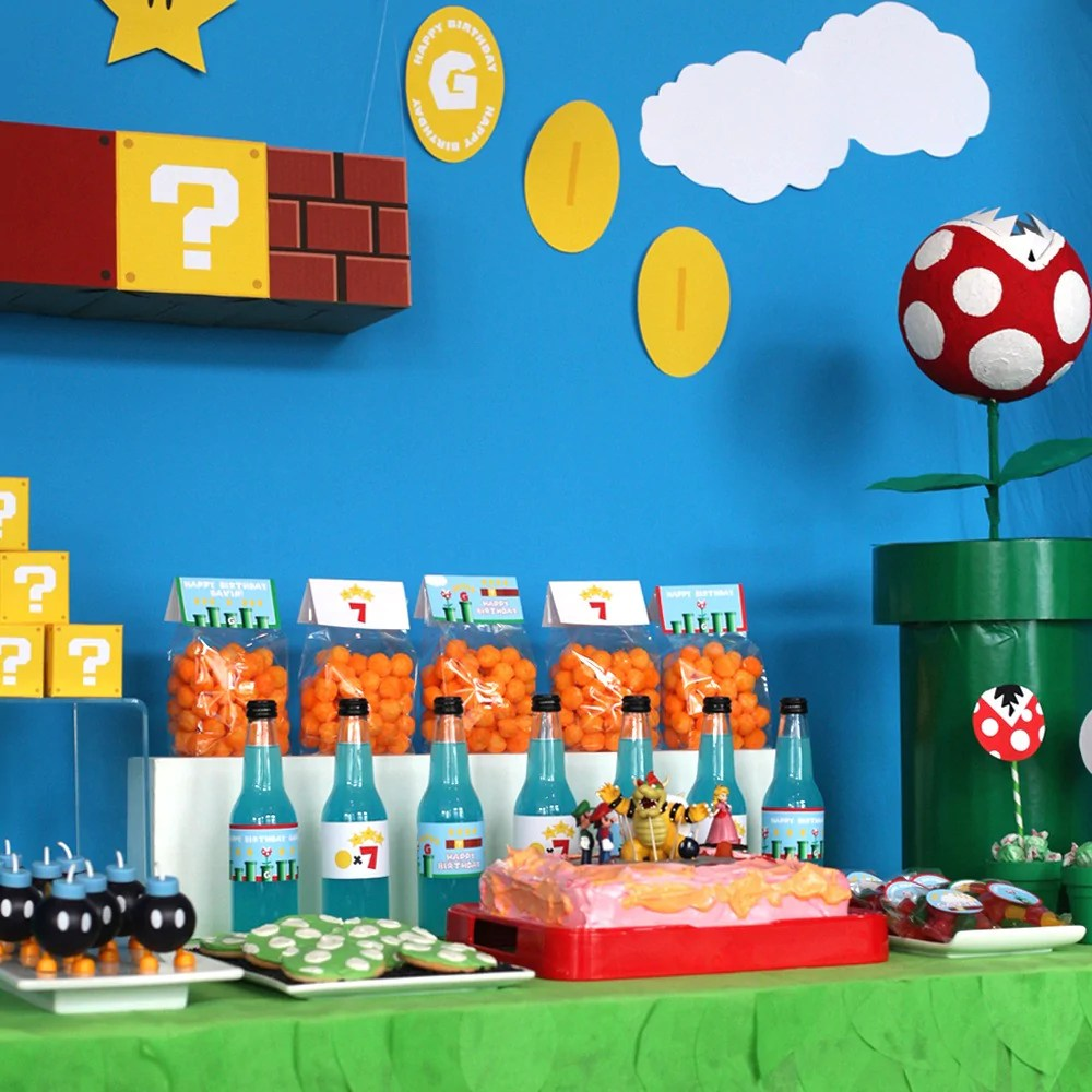 Super Mario Bros Party Printables Wants And Wishes