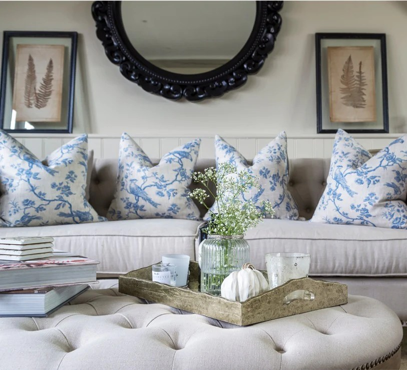 how to style an ottoman coffee table