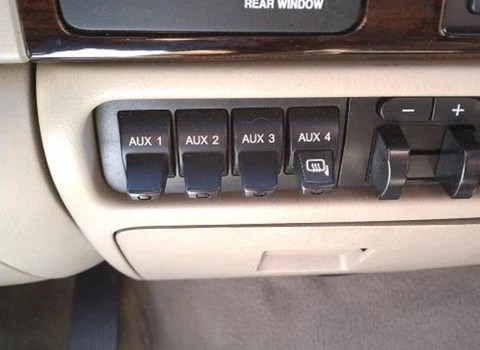 How to wire your light bar to your Ford auxiliary switches by Black OAK LED