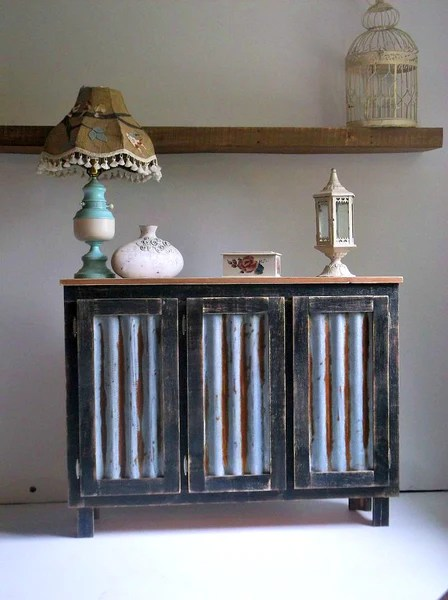 Black Solid Wood Farmhouse Coffee Bar Cabinet With