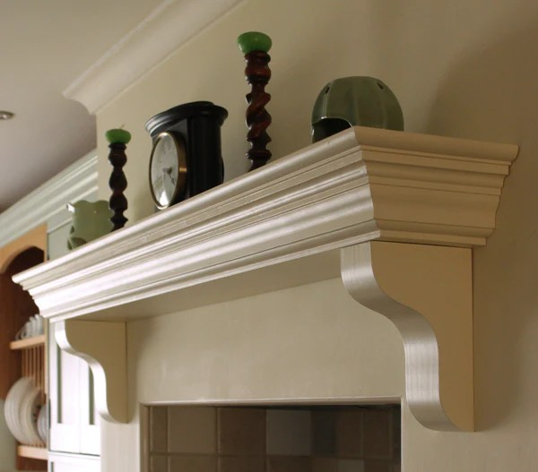 Handmade Victorian Solid Wood Mantel Piece Floating Shelf