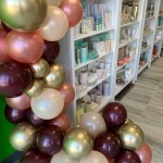 Burgundy And Rose Gold Tones Balloon Garland Ready For You To Hang Lolliloot