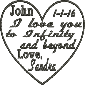 Download I love you to infinity and beyond Love Embroidery Design ...