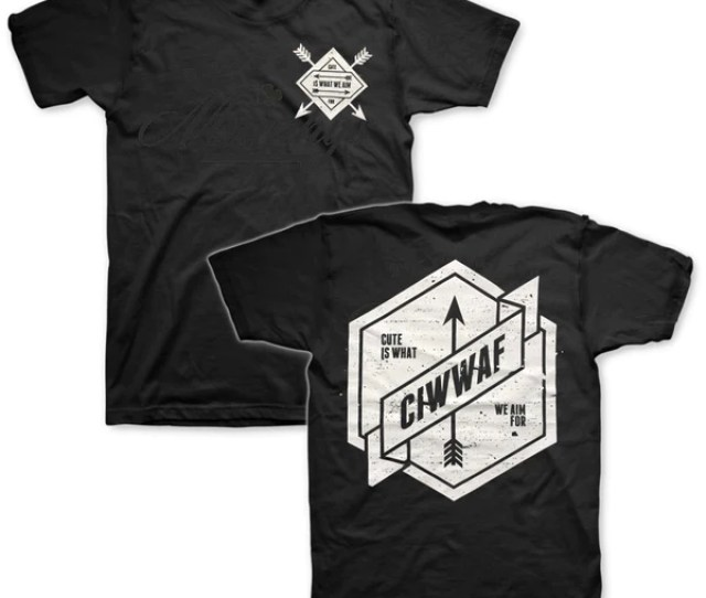 Cute Is What We Aim For Arrow Logo T Black