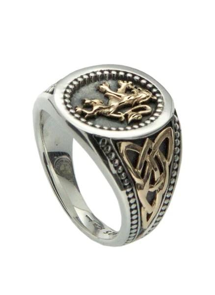 Scottish Lion Rampant Signet Ring Celtic Creations