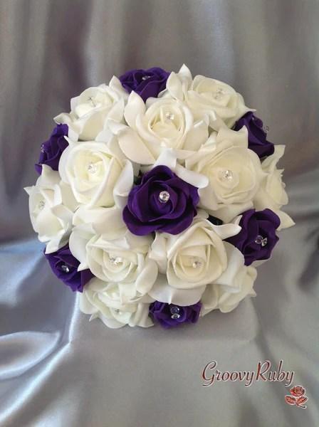 Cadbury Purple Amp Ivory Rose Crystal GroovyRuby Ltd