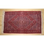 Vintage Persian Throw Rug 1940s Red Blue 45 X 26 The