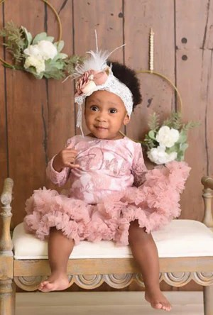 Baby Girl First Birthday Outfits Ruffles Bowties Bowtique