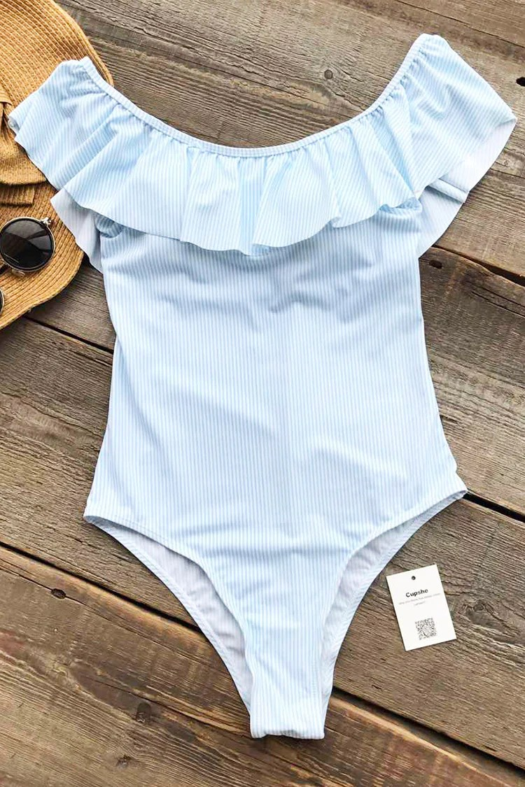 First Kiss Stripe One-piece Swimsuit