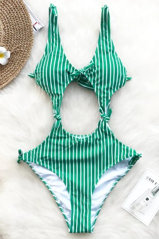 Cupshe Herbaceous Taste Bowknot One-piece Swimsuit