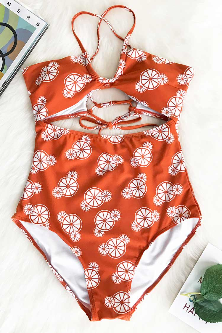 Some Like It Hot Print One-piece Swimsuit