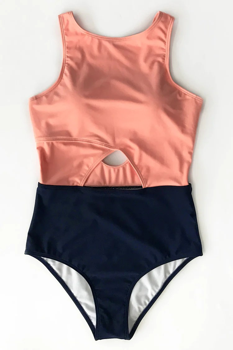 Good To Me Solid One-piece Bikini Set