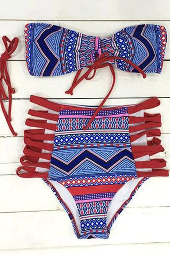 Cupshe Lazy Day Strappy Bikini Set