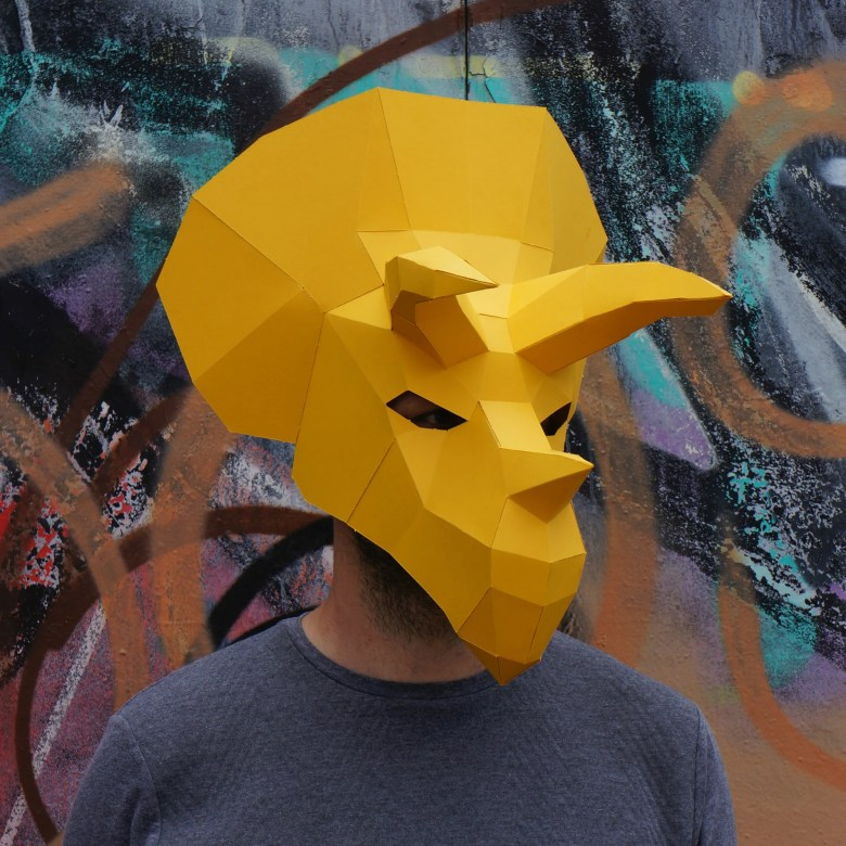 triceratops mask - wintercroft