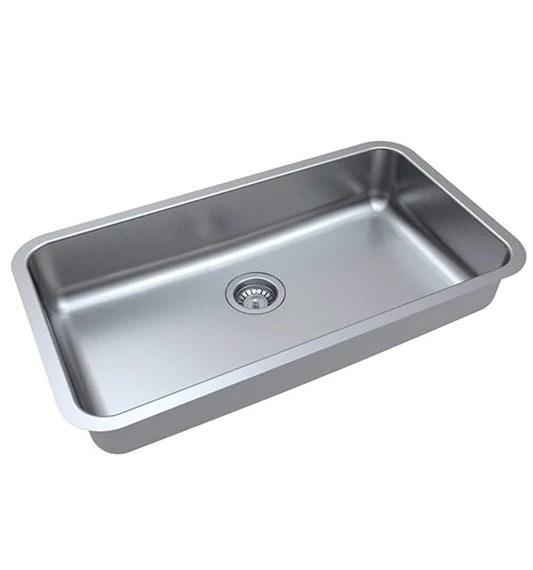 zuhne milan undermount ada handicap kitchen sink stainless steel 32 by 19 by 5 5 single bowl