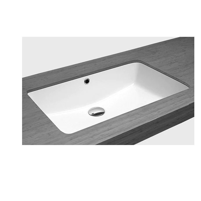 zuhne undermount bathroom sink with overflow white vitreous enamel rectangle 20 by 13 bowl