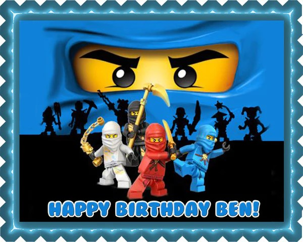 Ninjago Blue Ninja Blue Face Edible Cake Topper Amp Cupcake