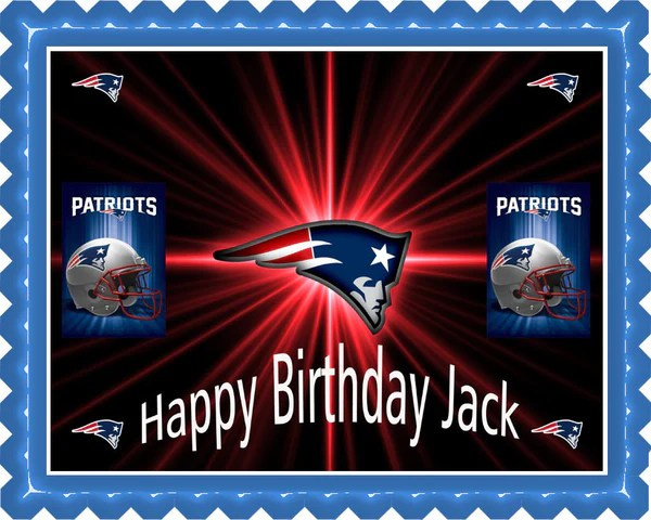 New England Patriots Edible Birthday Cake Or Cupcake