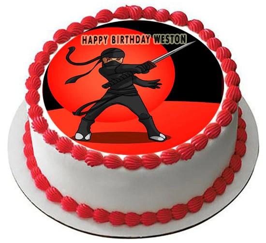 Ninja Edible Birthday Cake Or Cupcake Topper Edible