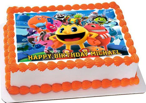 Pac Man And The Ghostly Adventures Edible Cake Topper