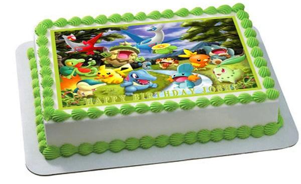 Pokemon Forest Edible Birthday Cake Or Cupcake Topper