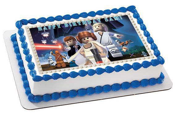 Lego Star Wars 7 Edible Birthday Cake Or Cupcake Topper