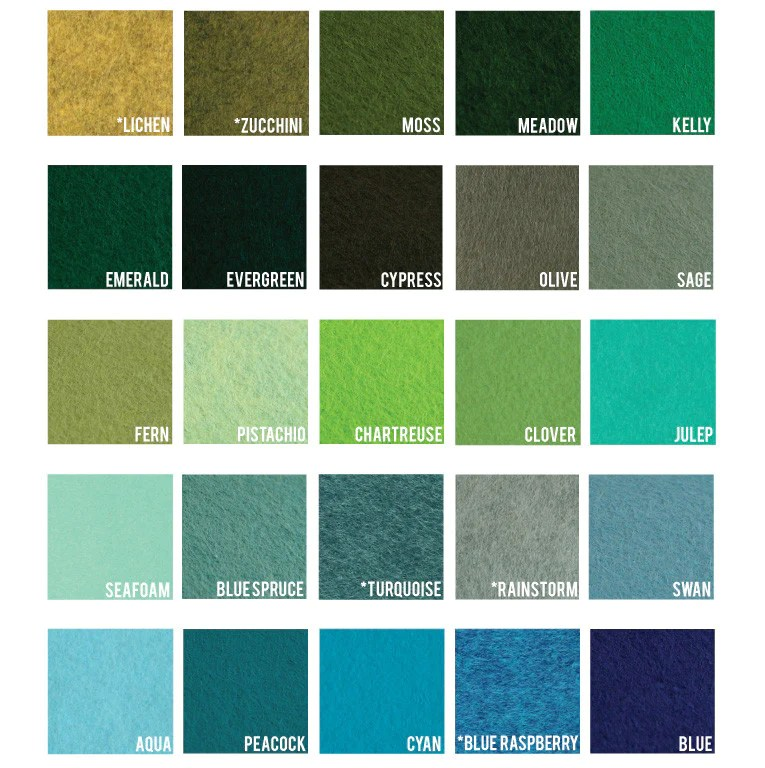 Seafoam Moss Chart And Color