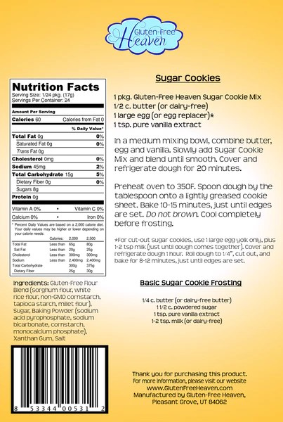 Gluten Free Sugar Cookie Mix Gluten Free Heaven