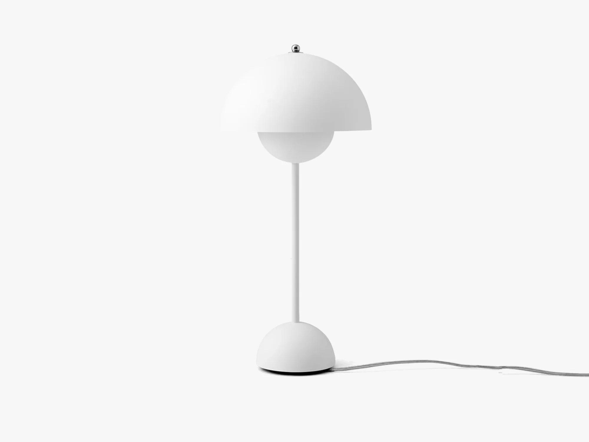 Flowerpot Table Lamp Vp3 Matt White Bordlampe Fra Tradition 1 995 Kr Gratis Fragt