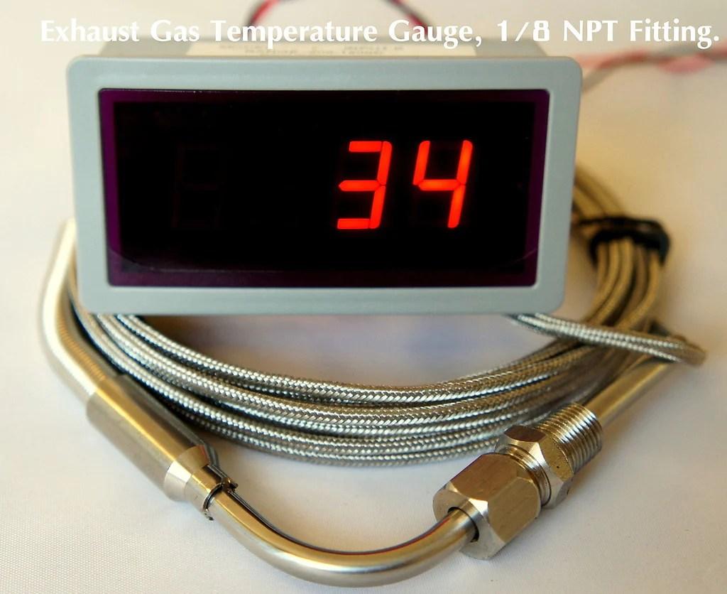 exhaust gas temperature gauge kit 90 degree bend 1 8 npt egt