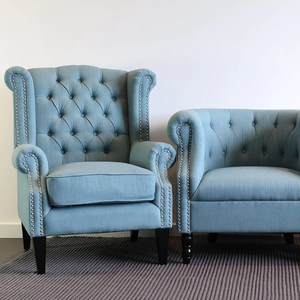 Teal And Grey Chair