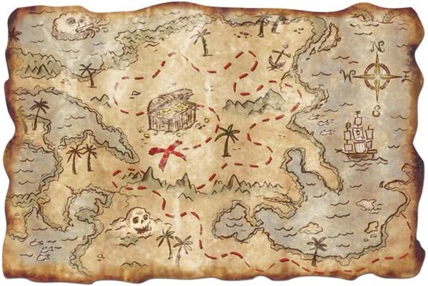 Pirate Treasure Map 12 X 18 1 Ct Zurchers