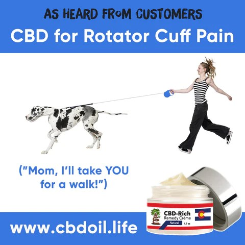 most trusted CBD, best-rated CBD, most effective CBD - That's Natural CBD-Rich Remedy Creme for Rotator Cuff Pain and Injury, CBD for shoulder Pain, Thats Natural CBD and CBDA products at www.cbdoil.life and cbdoil.life - www.thatsnatural.info