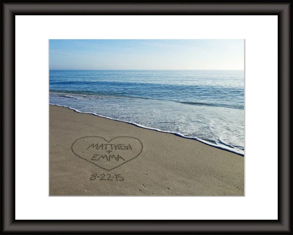 Personalized Beach Wall Art Your Names In The Sand