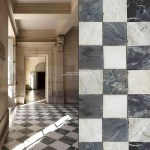 Italian Reclaimed Antique Black And White Checkered Marble Stone Floor Historic Decorative Materials A Division Of Pave Tile Wood Stone Inc