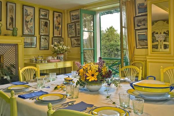 Claude Monet's Blue And White Decorative Kitchen Back
