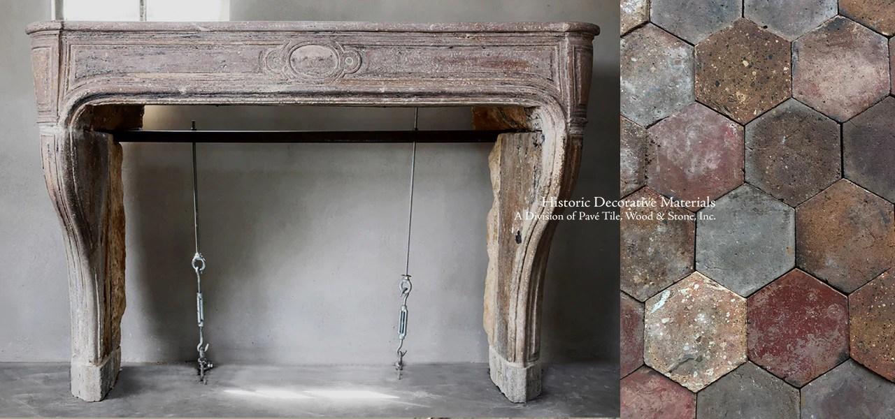 la maison francaise antique french limestone fireplace mantel mantel pave 108