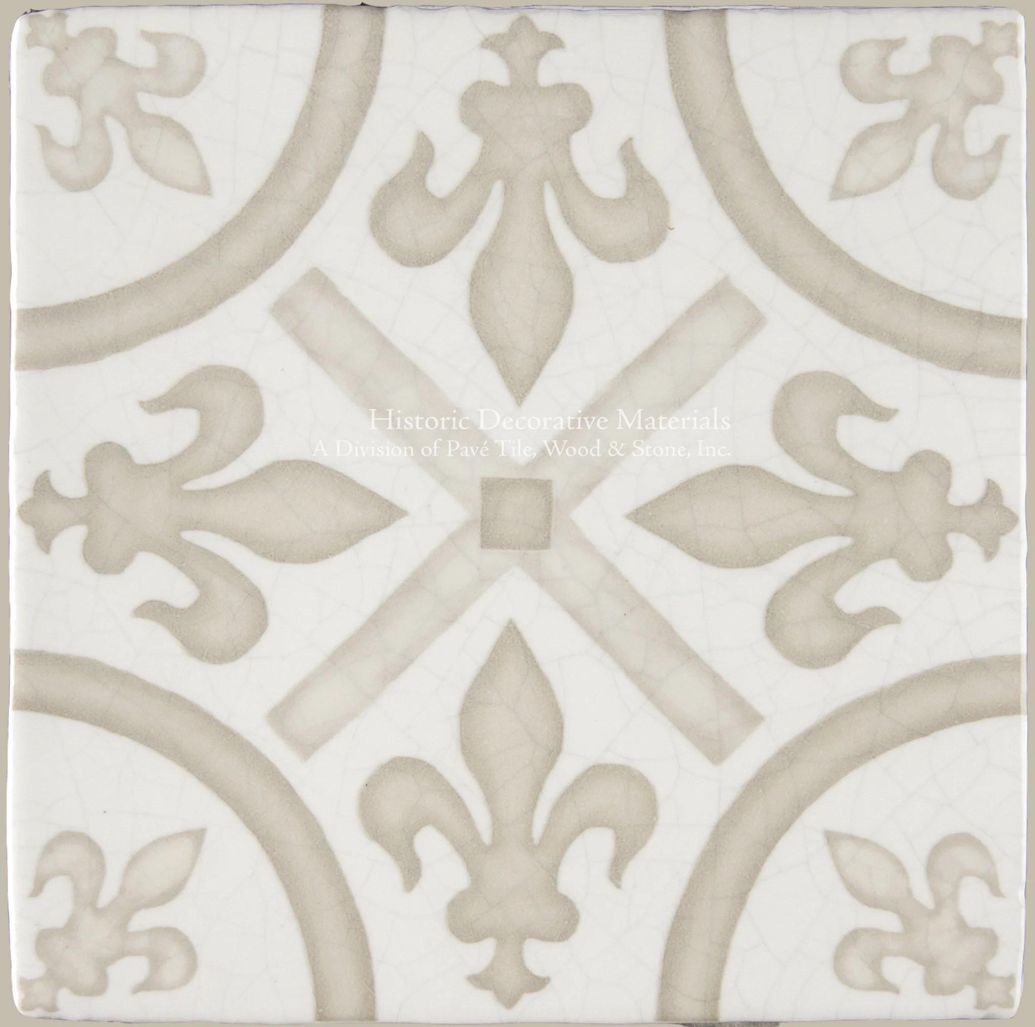 gardens in the cloister 16th century french encaustic decorative tile king s fleur de lys