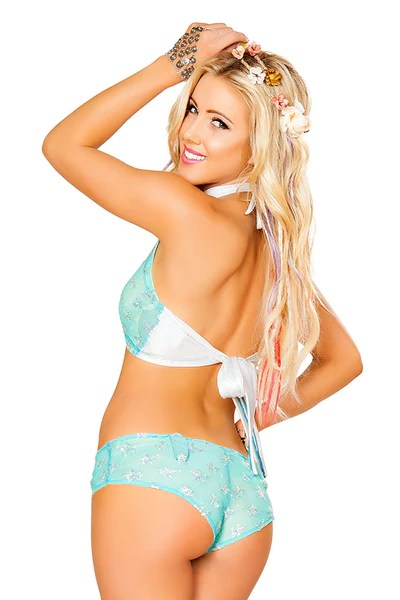 Light Up Sequin Star Mesh Top With Light Up Shorts Rave