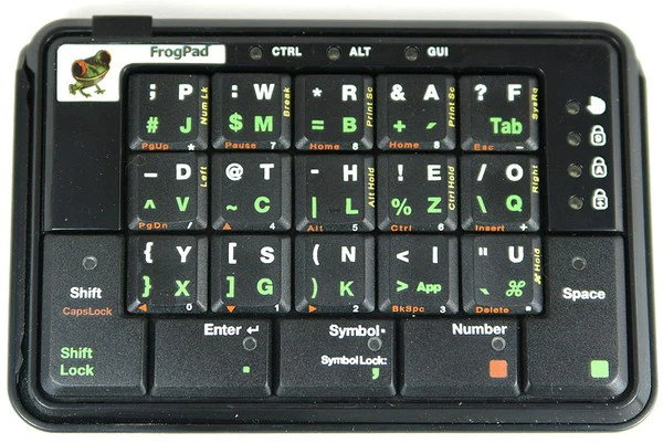 Frogpad chorded keyboard